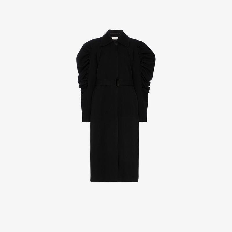 Van Shoulder Black Detail Noten Coat Dries Rooly Ruffle Women's RCwxBMaqdA