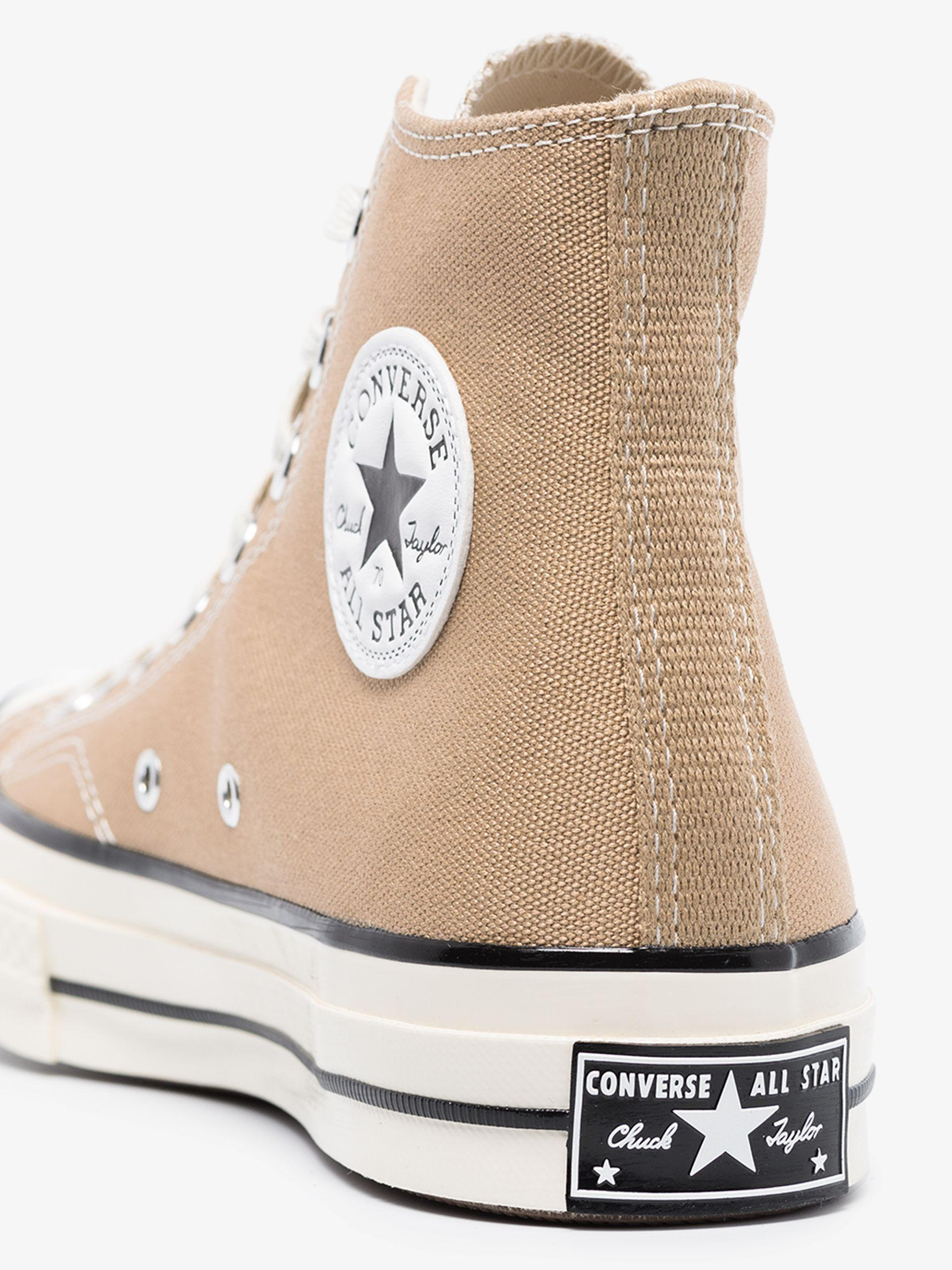 Converse Rubber Beige Chuck 70 High Top Sneakers in Brown - Lyst