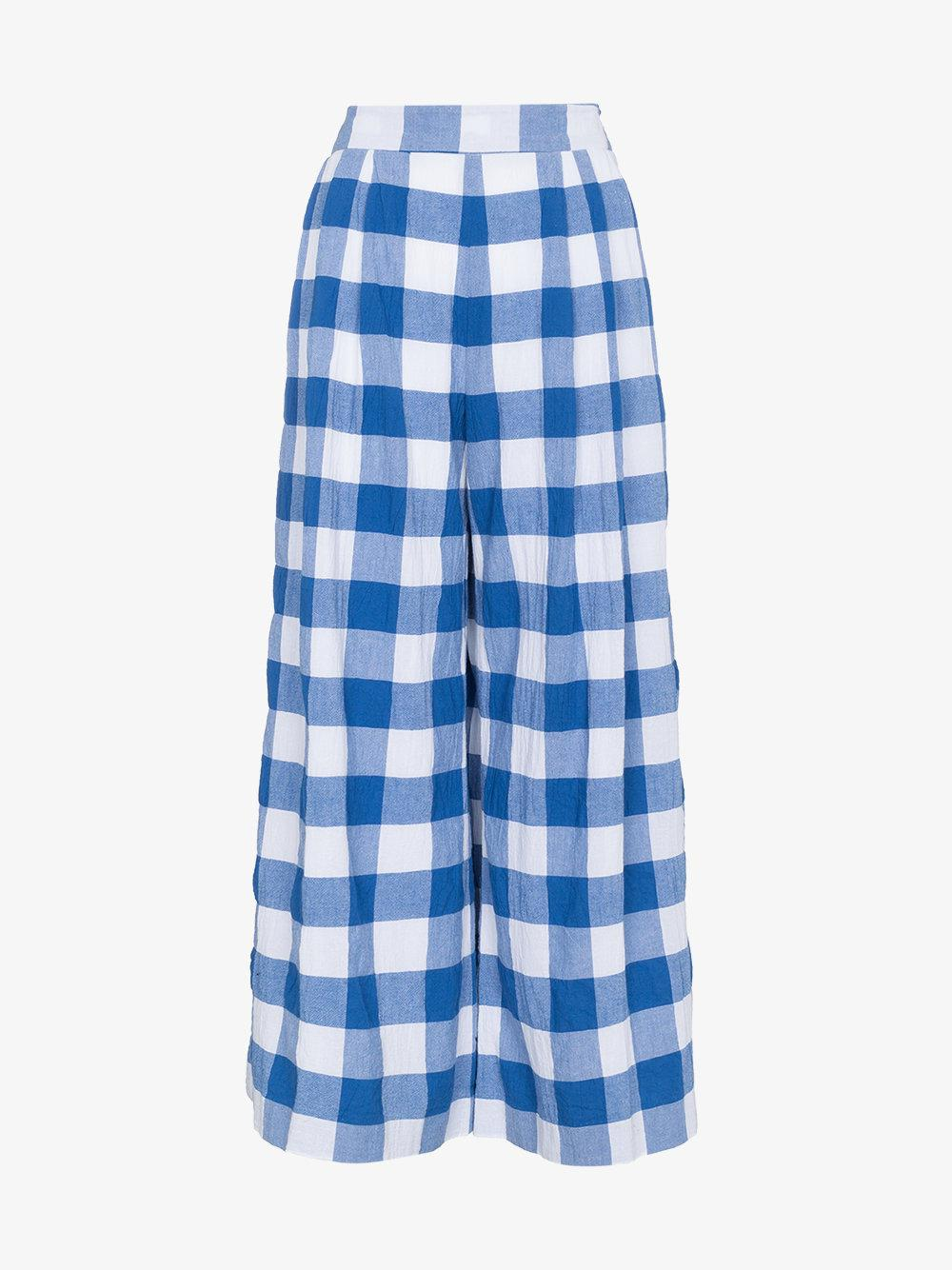 Pre Order Cheap Price Mara Hoffman Angie high waist check organic cotton trousers The Cheapest Online Original Online Buy Cheap Deals 9bKk6tB