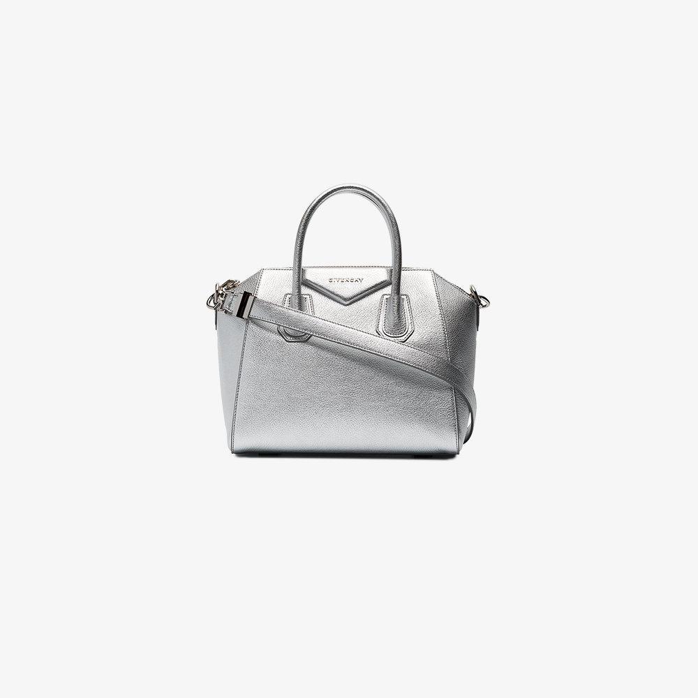 Givenchy Leather Metallic Small Antigona Tote Bag