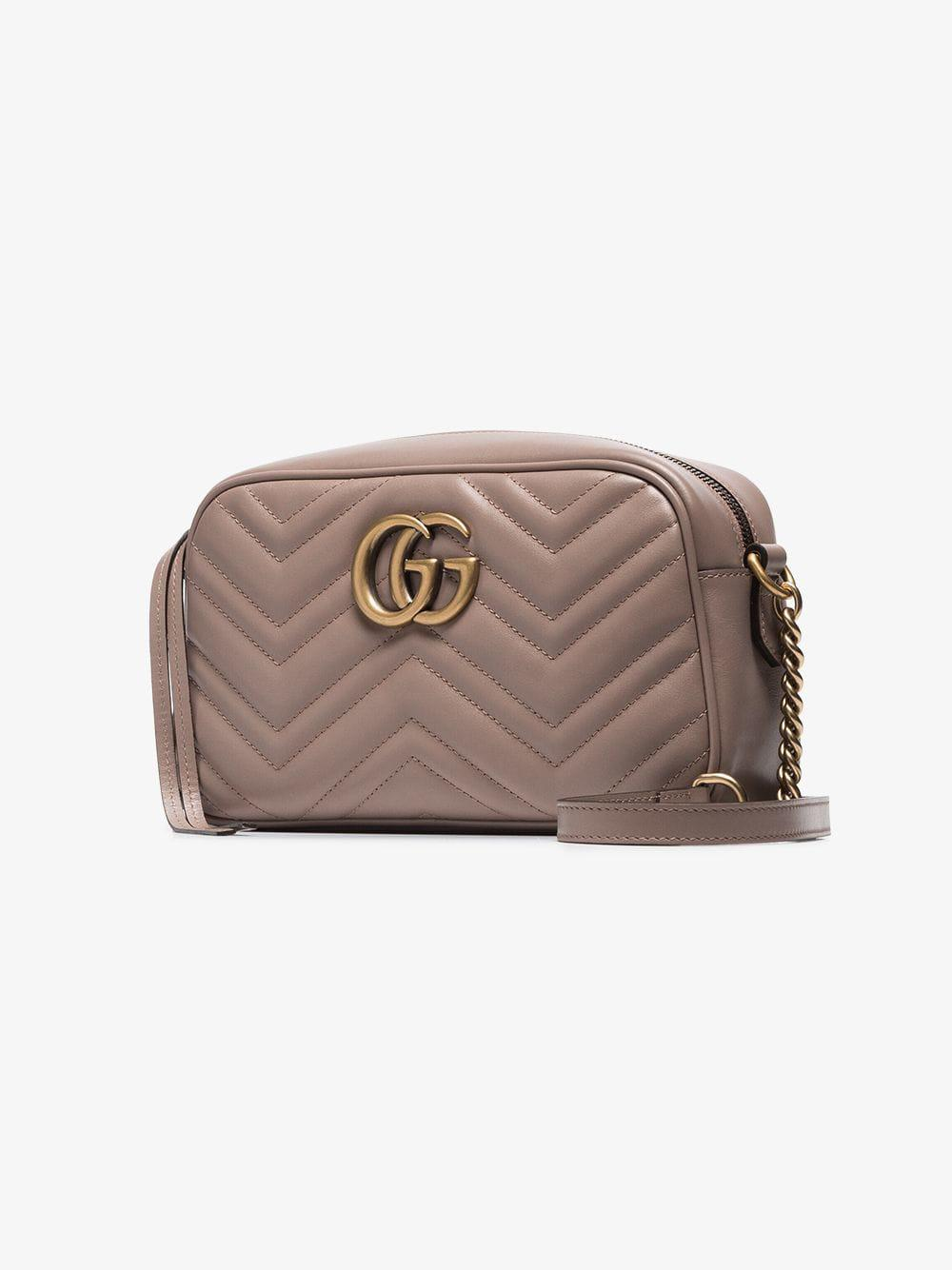 Gucci GG Marmont tote bag, Womens, Nude/Neutrals, Leather - Wheretoget