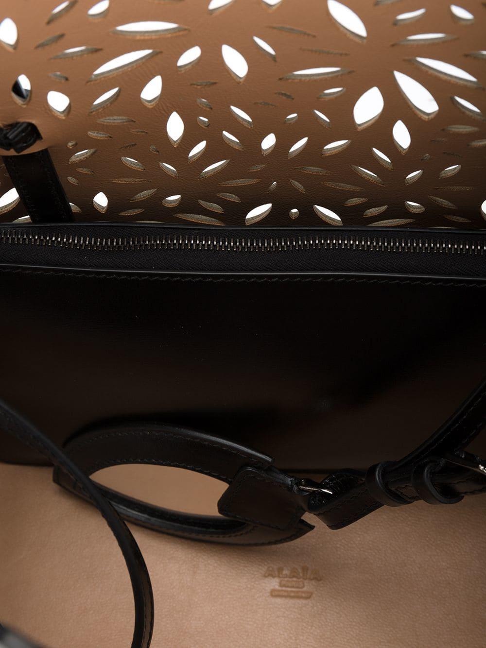 Alaïa Black Perforated Leather Tote Bag
