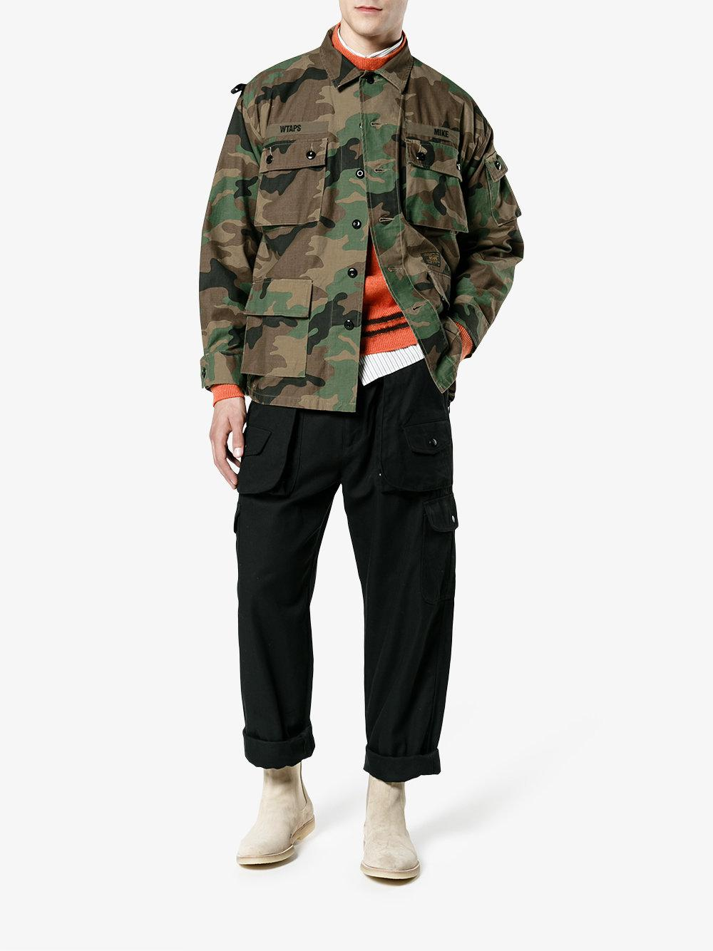 8fa84344720d8 WTAPS Camouflage Military Jacket in Brown for Men - Lyst