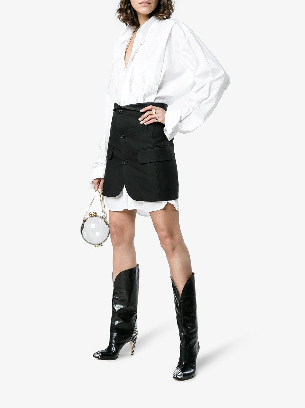 Givenchy Black 95 Spotted Leather Knee High Boots