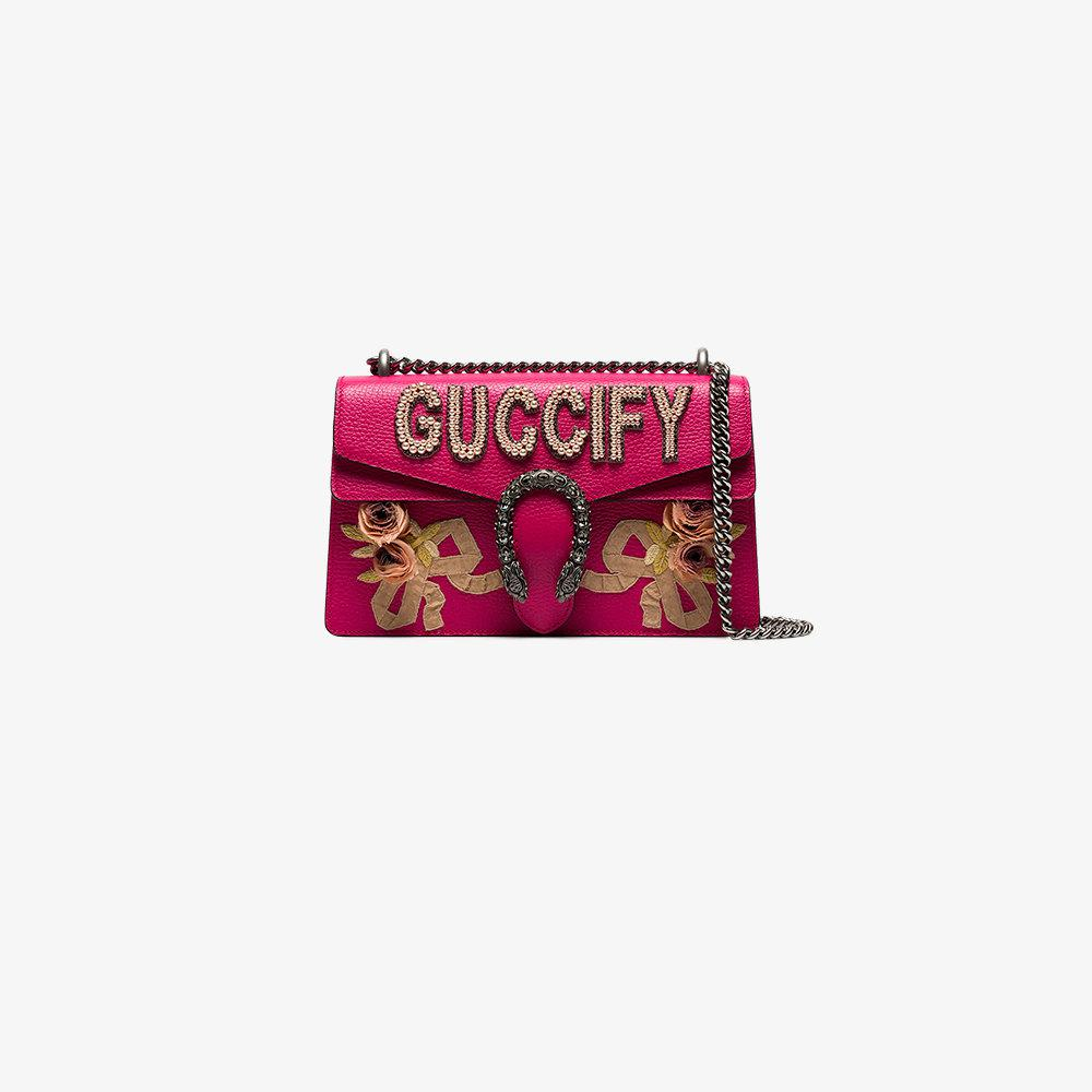 ce124695c79 Lyst - Gucci Dionysus Small Shoulder Bag in Pink