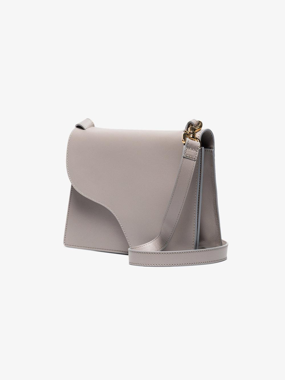 Atp Atelier Leather Grey Siena Cross-body Bag in Grey