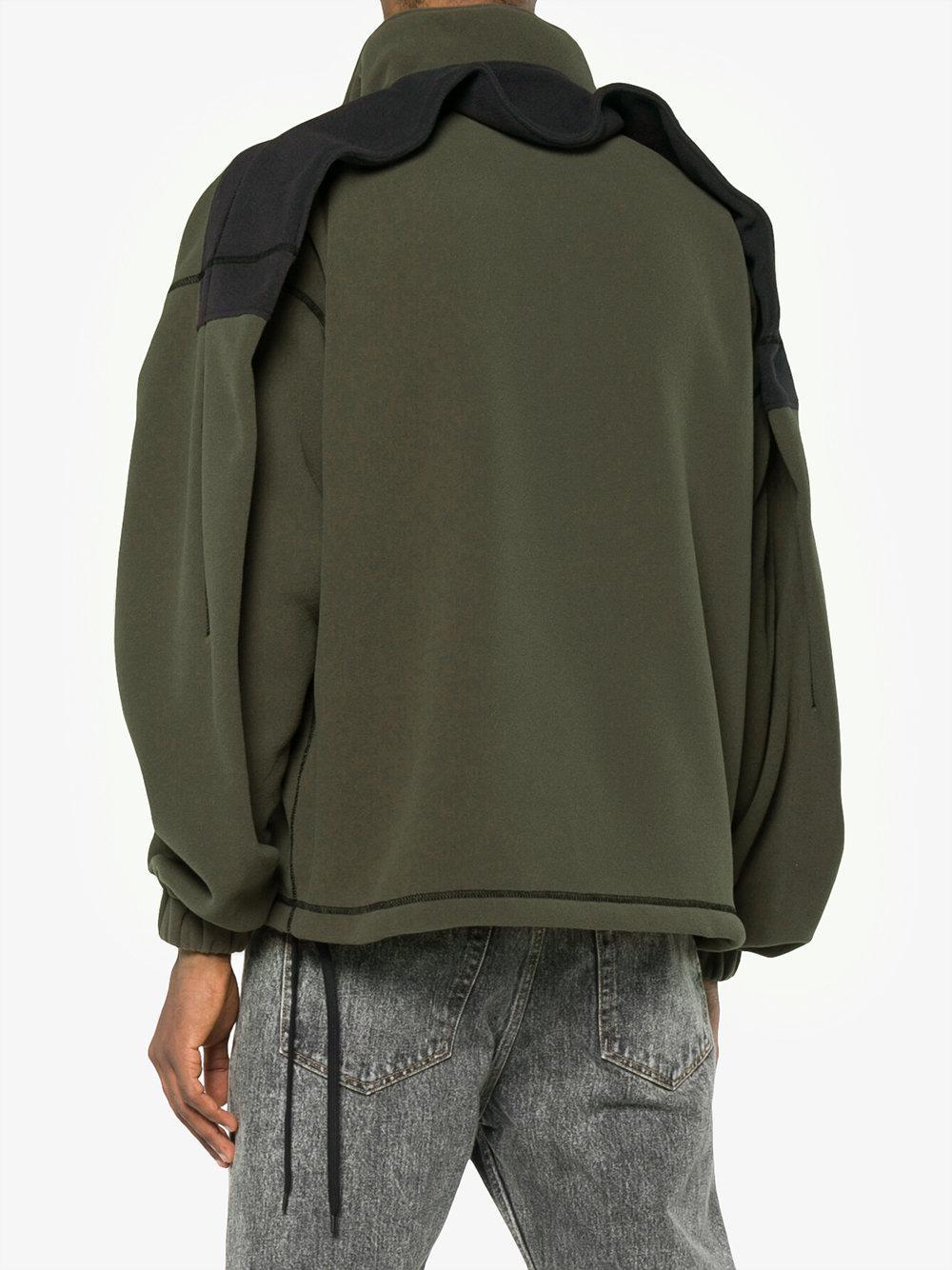 Y. Project Double Shoulder Fleece Jacket in Green for Men