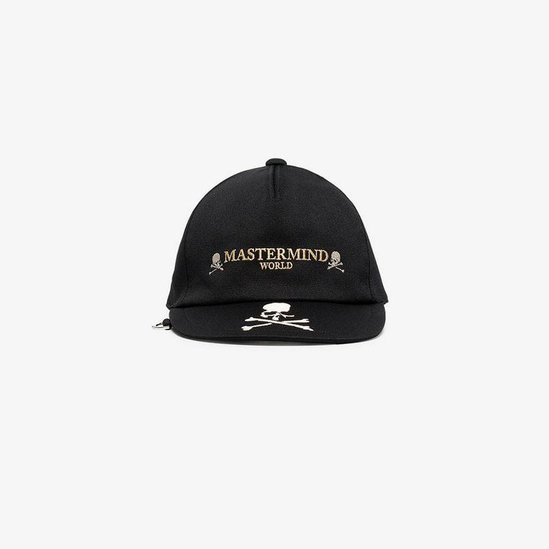 4ed3c215fd4 Mastermind Japan Black Embroidered Skull And Logo Cap in Black for ...