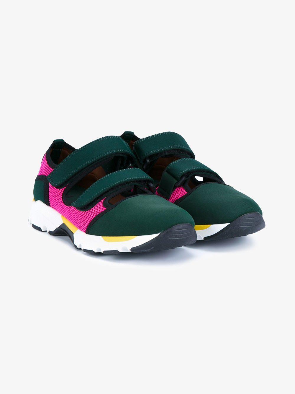 In Sneakers Fastening Lyst Marni Green qFagtP4