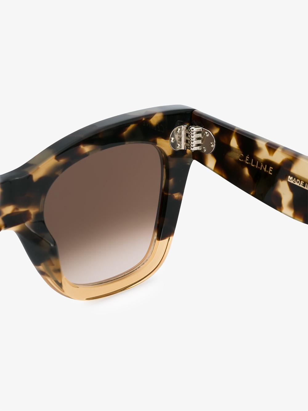 Celine Denim Tilda Tortoiseshell Sunglasses