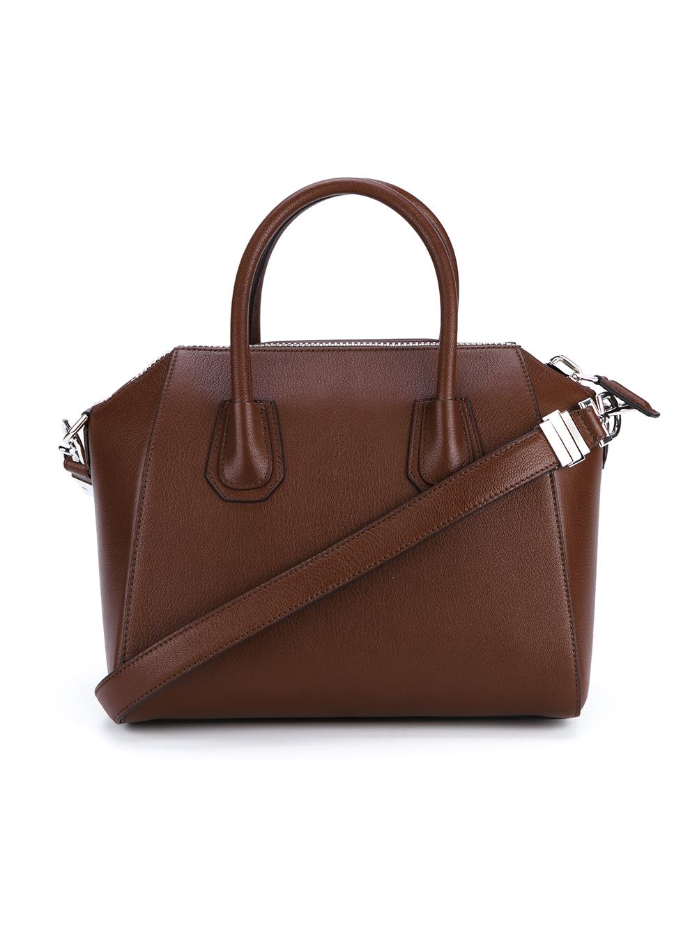9efa9837e311 Lyst - Givenchy Small Antigona Leather Bag in Brown