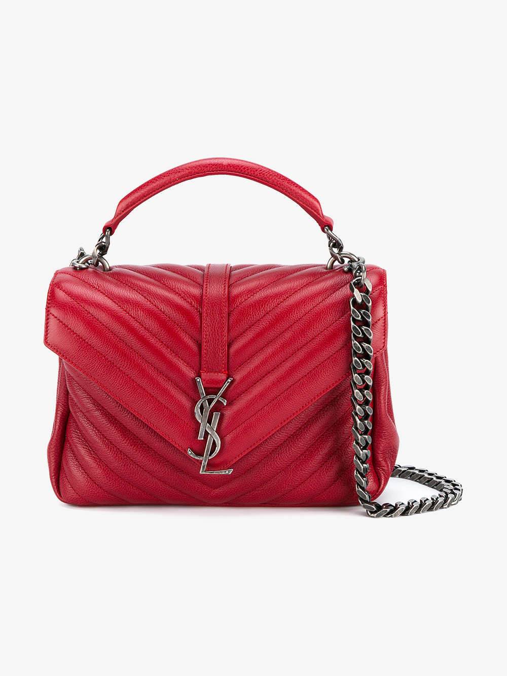 5e311e51d5ca Lyst - Saint laurent Medium Leather Monogram College Bag .