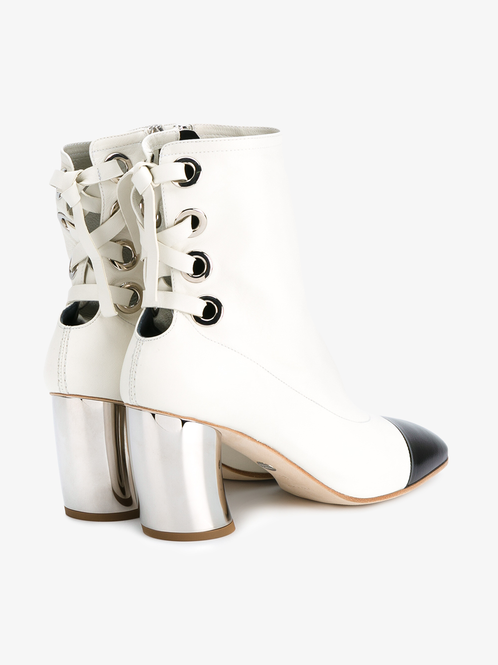 Proenza Schouler Lace-back Leather Booties