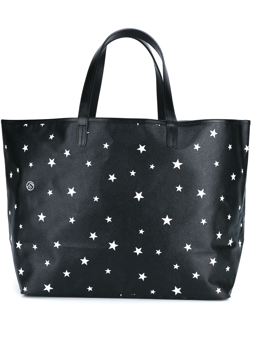 Uniform Experiment Star Print Leather Tote Bag In White