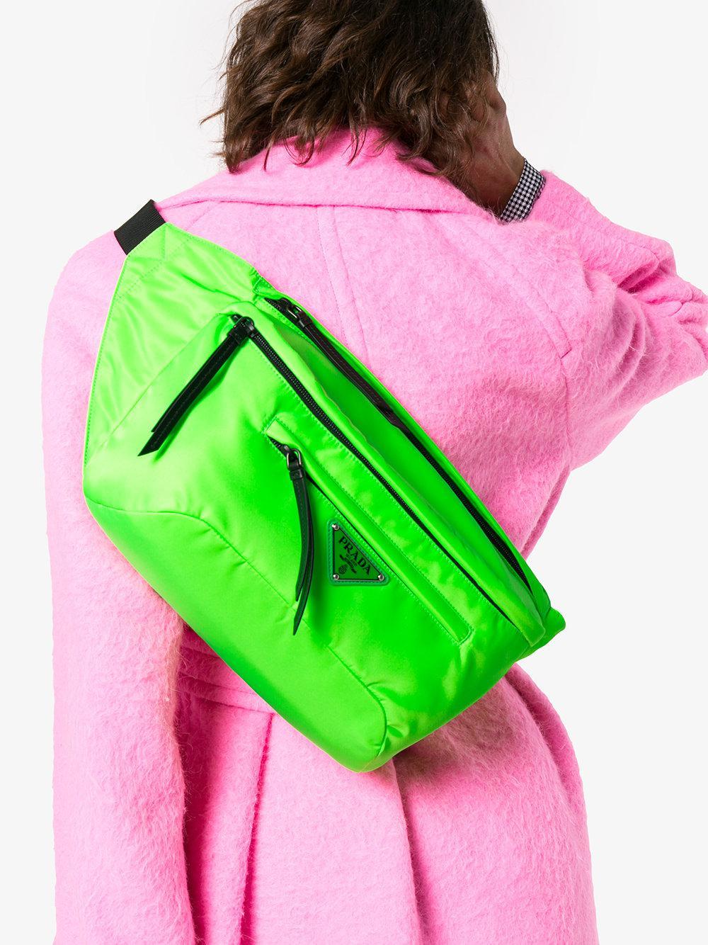 492ed6b596 ... backpack tulips dc6ec 99a6c ireland prada green fluorescent nylon belt  bag lyst. view fullscreen 6fb9b ebd62 ...