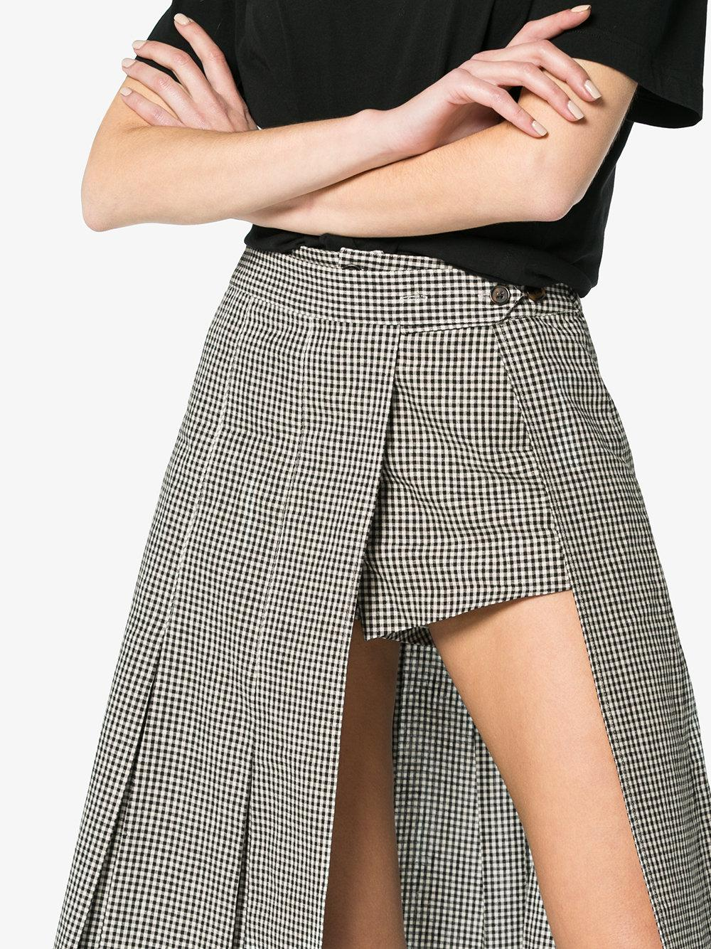 d360acf19a Sandy Liang Uniform Plaid Skort in Black - Lyst