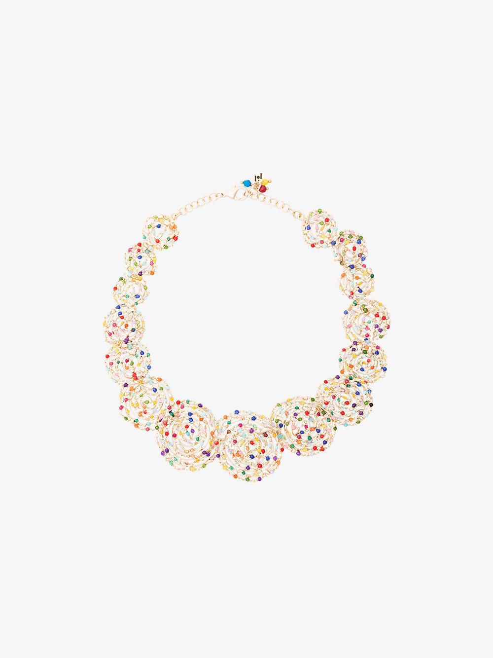 Rosantica Pizzo necklace with multicoloured quartz ENU8y1ga