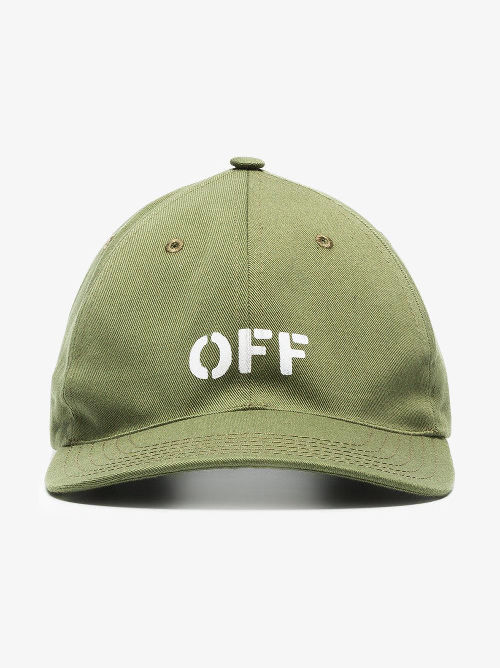 c69d7604970 Lyst - Off-White c o Virgil Abloh X Browns Green Embroidered Logo ...
