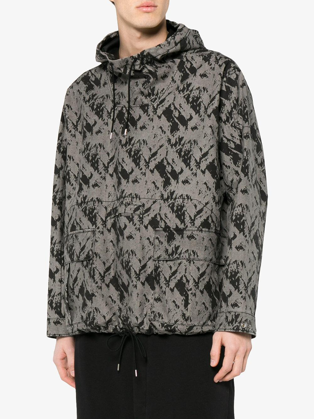 Stone Island Cotton Grey Hooded Jacket in Grey for Men