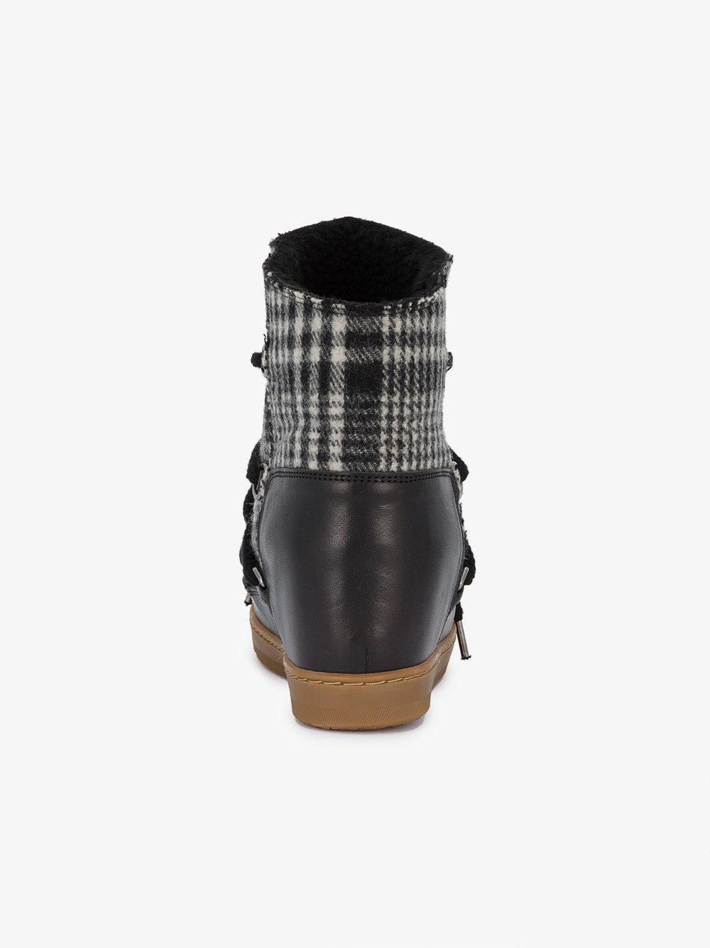 Isabel Marant Leather Nowles Boots in Brown