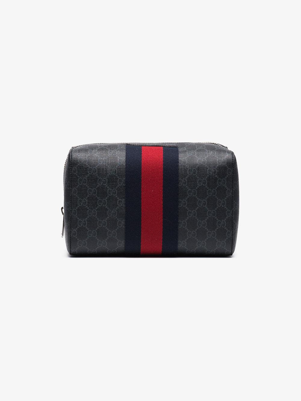 9646985869c Lyst - Gucci Gg Supreme Toiletry Case in Black