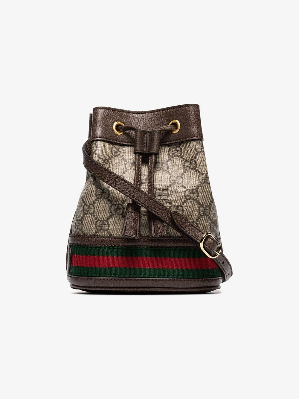 Gucci Ophidia Gg Bucket Bag In Beige Natural Save 51 Lyst