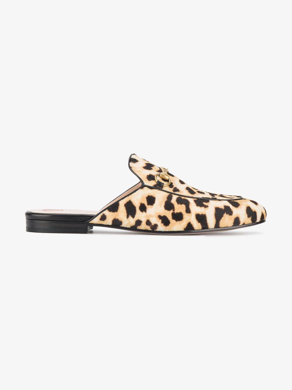 e22cbb5d548 Lyst - Gucci Princetown Leopard Calf Hair Slipper - Save 7%