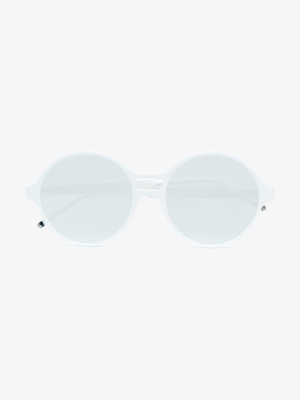 258232a72593c Thom Browne White Round Frame Mirror Sunglasses in White for Men - Lyst