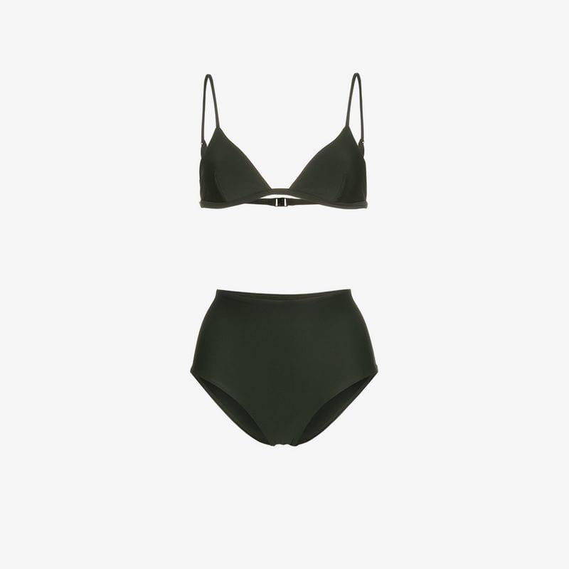 4f05c22b93 Matteau Triangle Bikini With High Waist Bottoms in Green - Lyst