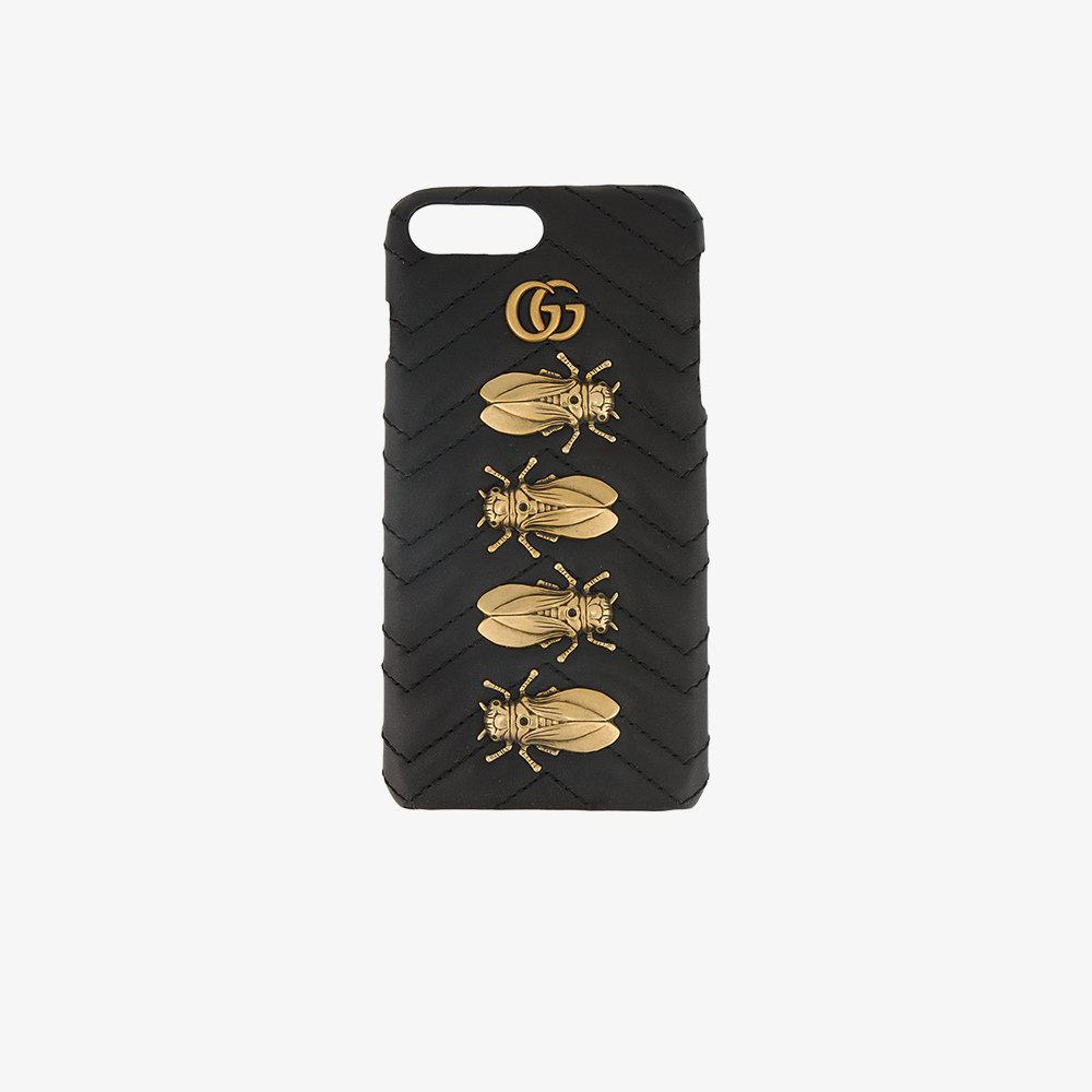 b052fbee0 Gucci Gg Marmont Animal Studs Iphone 7 Plus Case in Black - Lyst