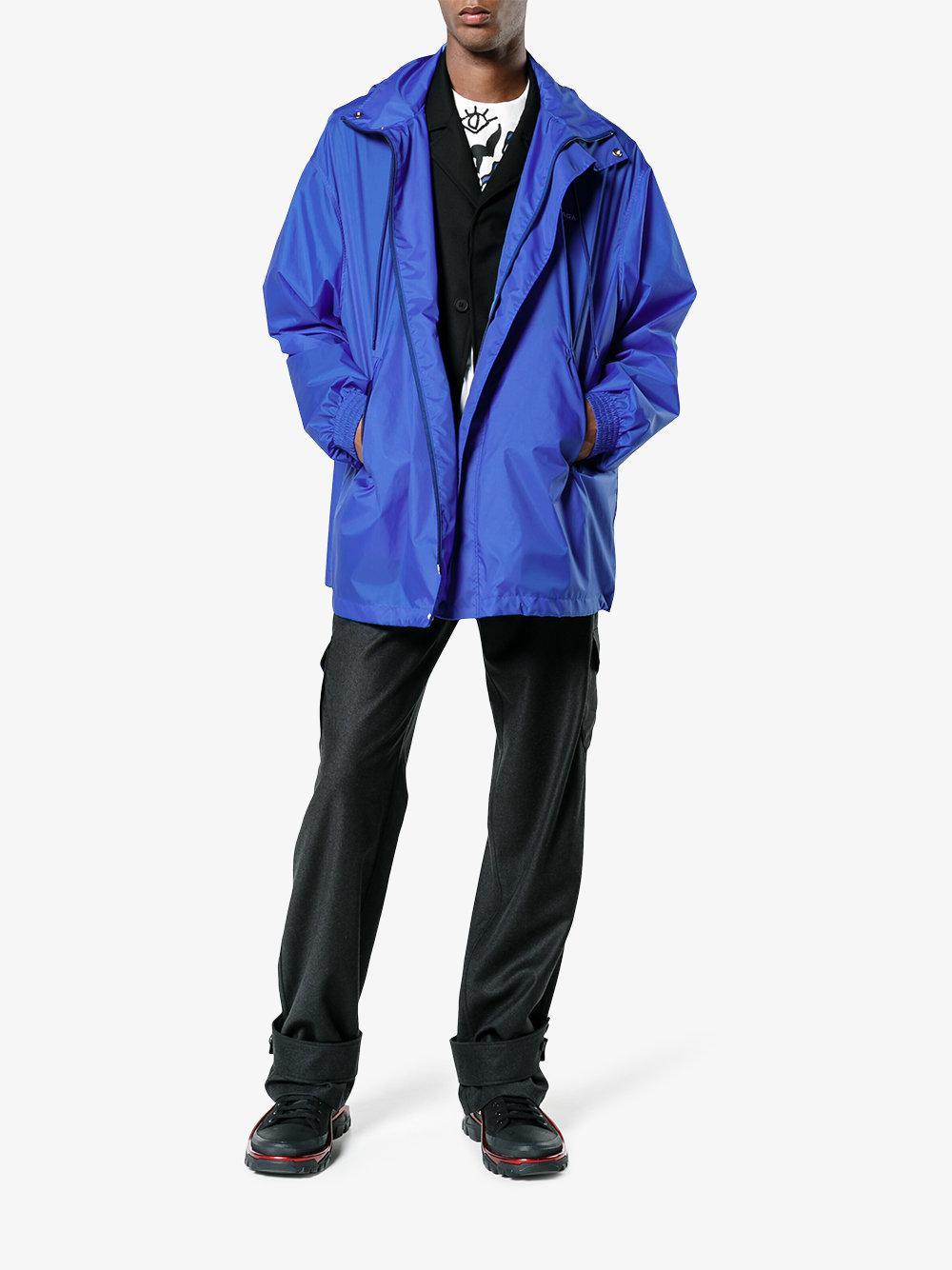 Balenciaga Classic Windbreaker in Blue for Men