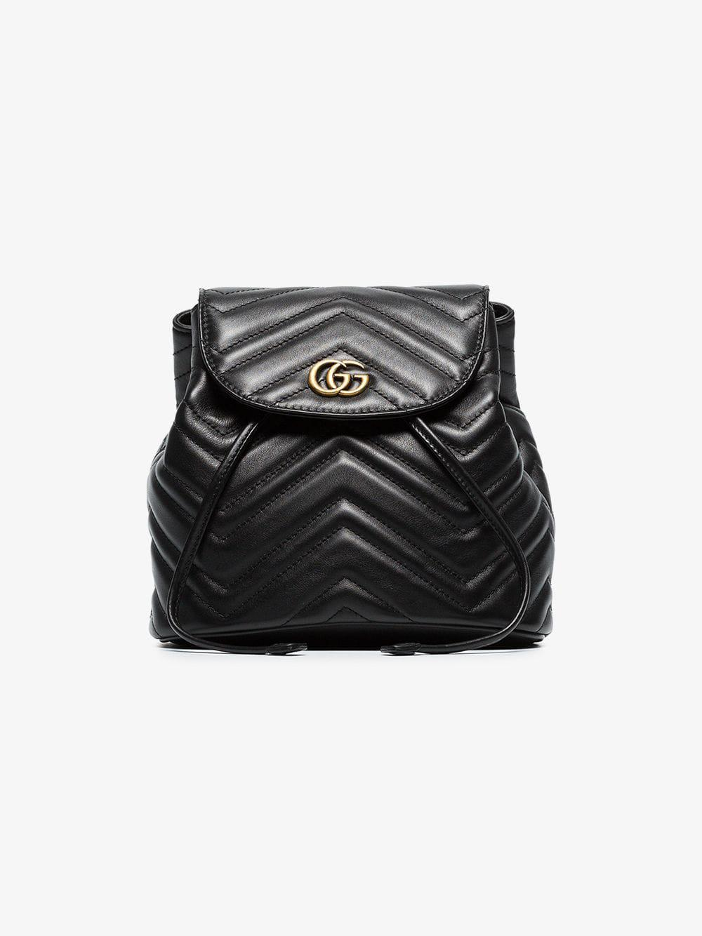 8030ef2e7326 Gucci - Black GG Marmont Matelassé Backpack - Lyst. View fullscreen