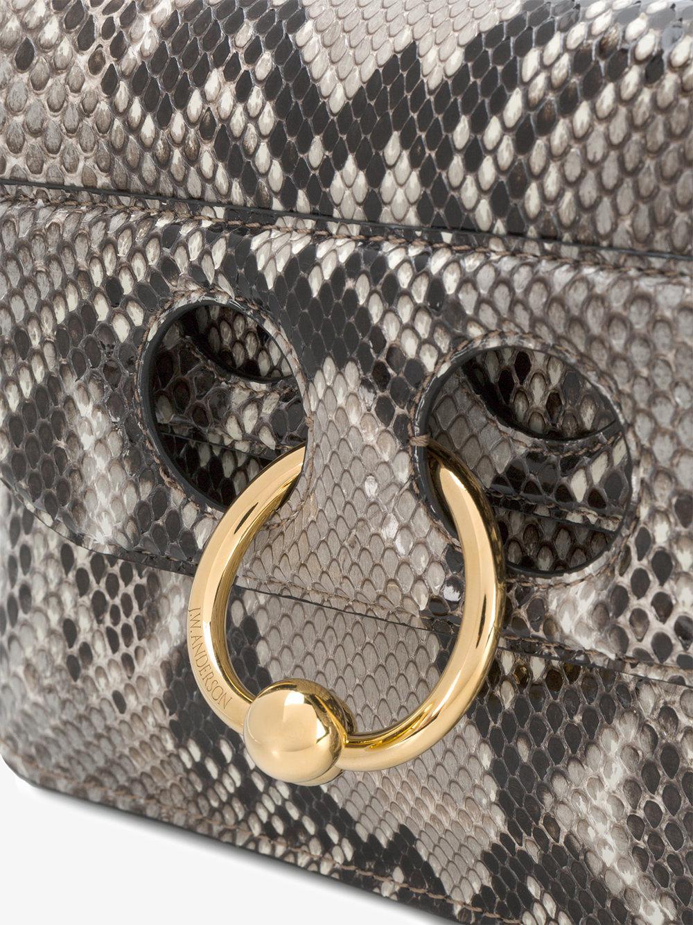 JW Anderson Mini Python Pierce Crossbody Bag