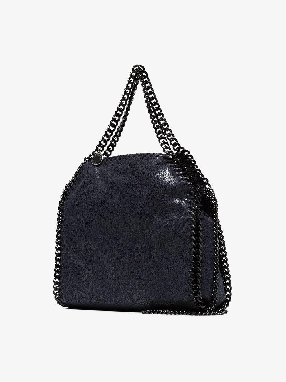 Stella Mccartney Navy Blue Falabella Mini Shoulder Bag in Blue - Lyst 9e92fb3f22a8e
