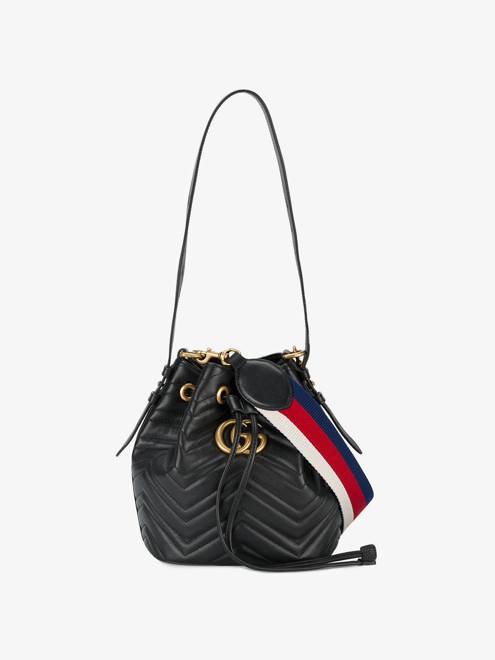 1f011622de Gucci Black Marmont Mini Bucket Bag
