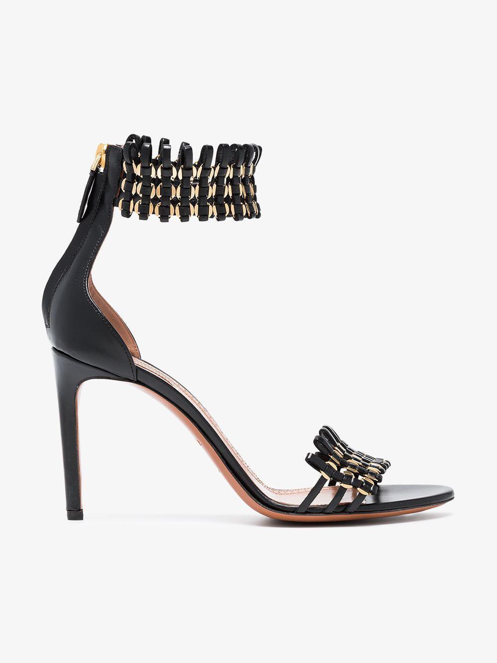 339e8329f7cd Alaïa 90 Cage Sandals in Black - Lyst