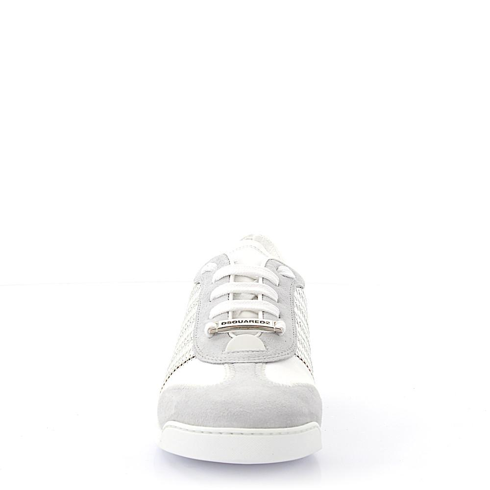 DSquared² Suede Low-top Sneakers Calfskin Grey Silver White