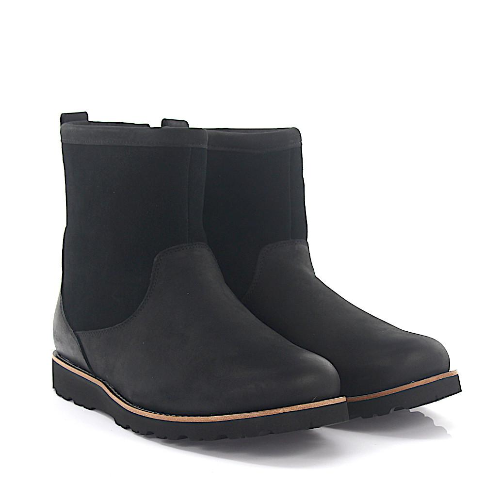 Outlet Pre Order Outlet Release Dates Boots HENDREN nubuck leather suede black finished lambskin UGG Online Store 4AQNDM