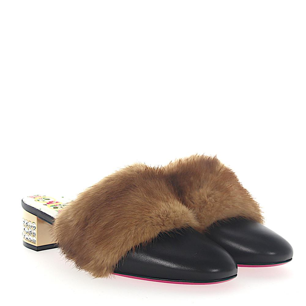 ksldnLswd8 Loafer Mules leather crystals mink brown 7bsZKS