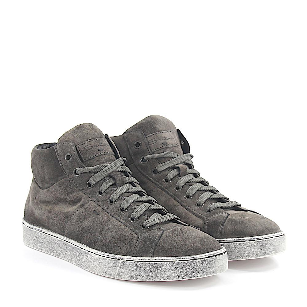 Sneakers Mid High 20532 suede brown Santoni FM6VS9