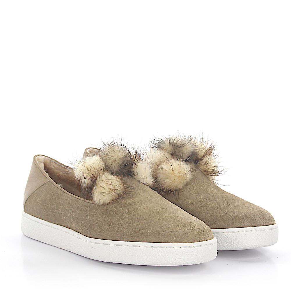 UNüTZER Slippers 8131 leather suede fur oudle9