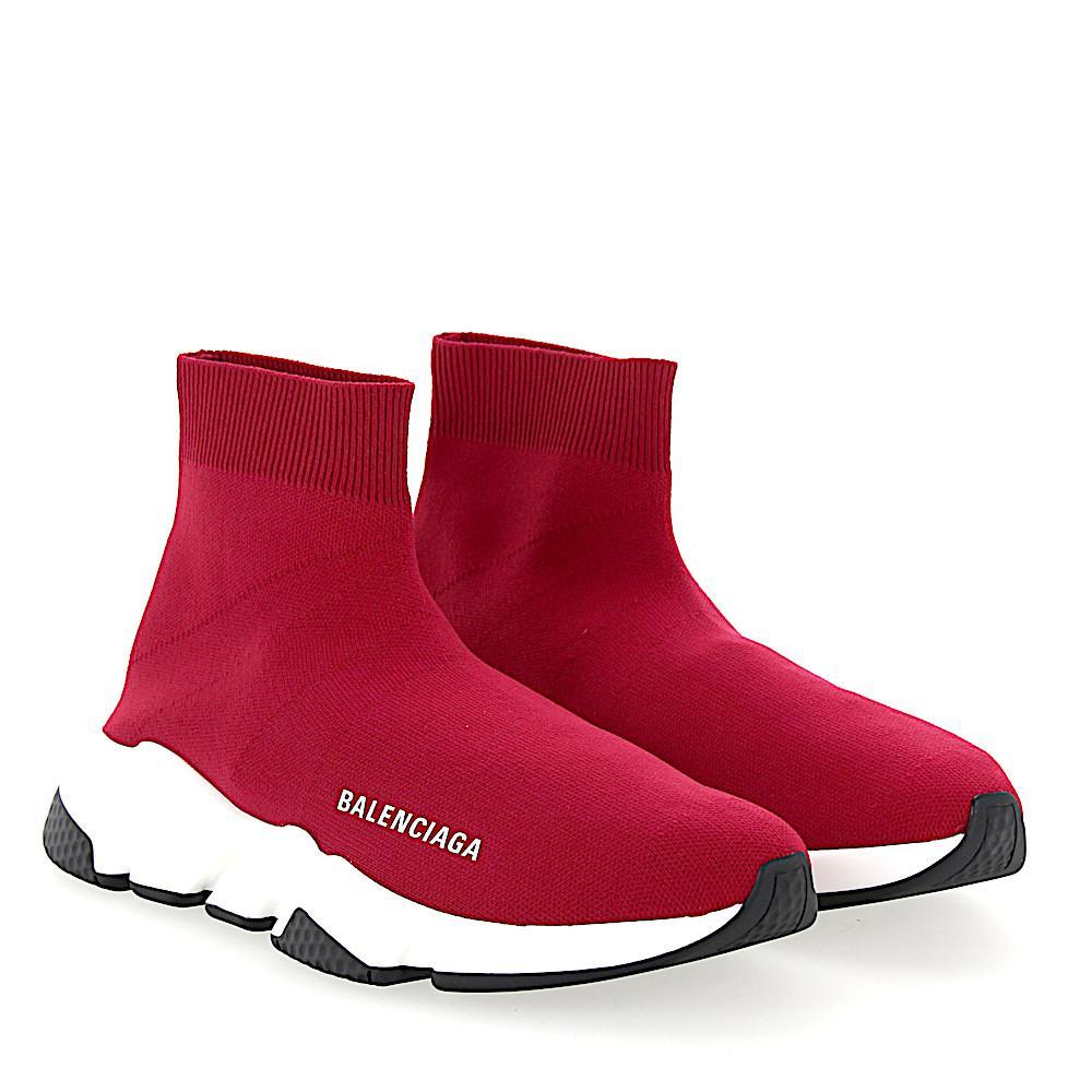 de de bajas Logotipo algodón Balenciaga de Speed Trainer Slip Zapatillas de  deporte On ... 4613eadb5ec20