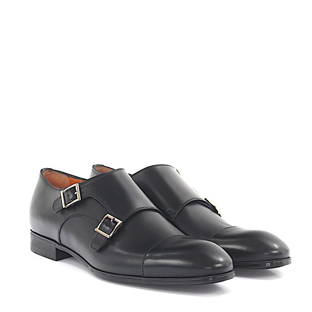 santoniDouble-Monk 14549 leather uGdoamm4