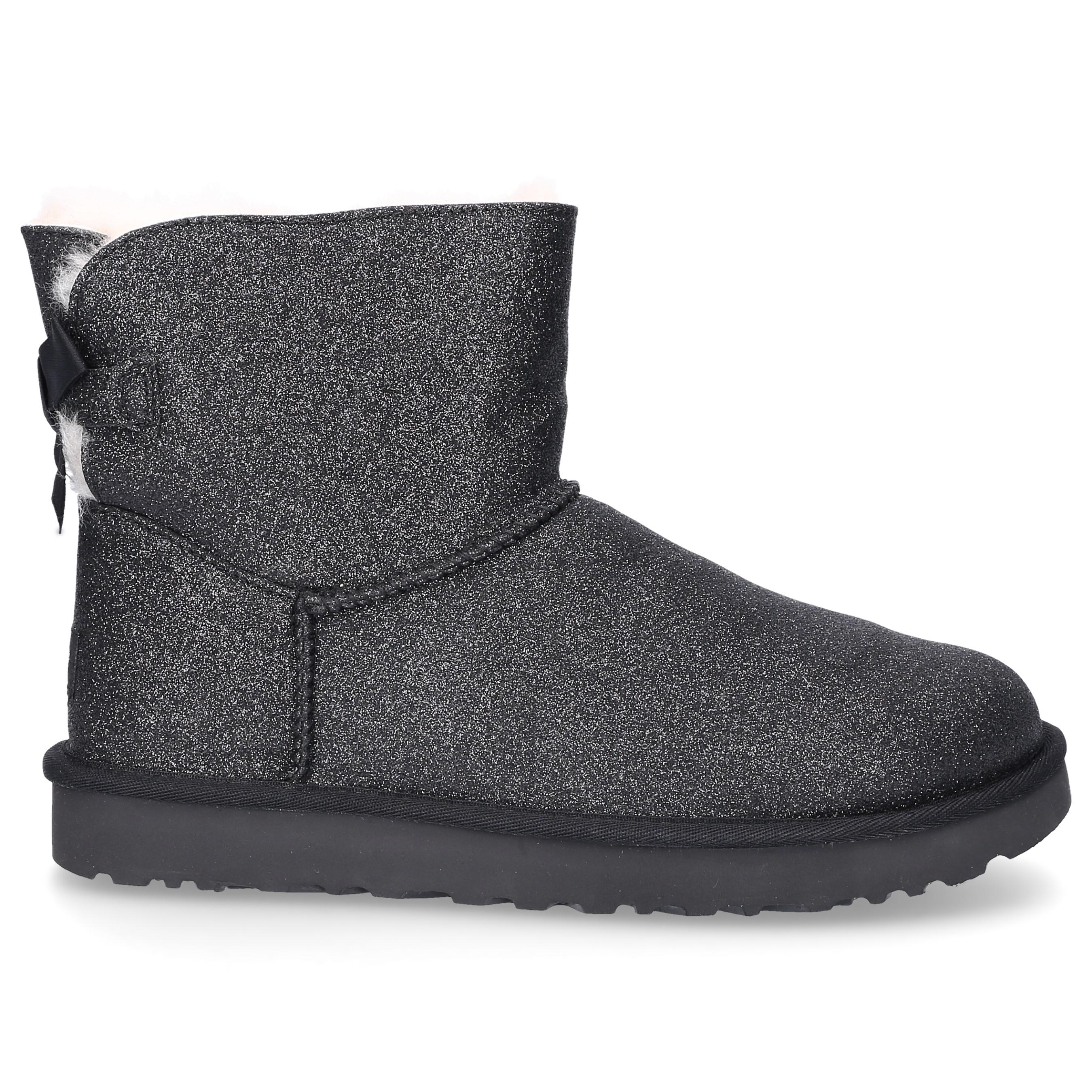 UGG Ankle Boots Black Mini Bailey Bow