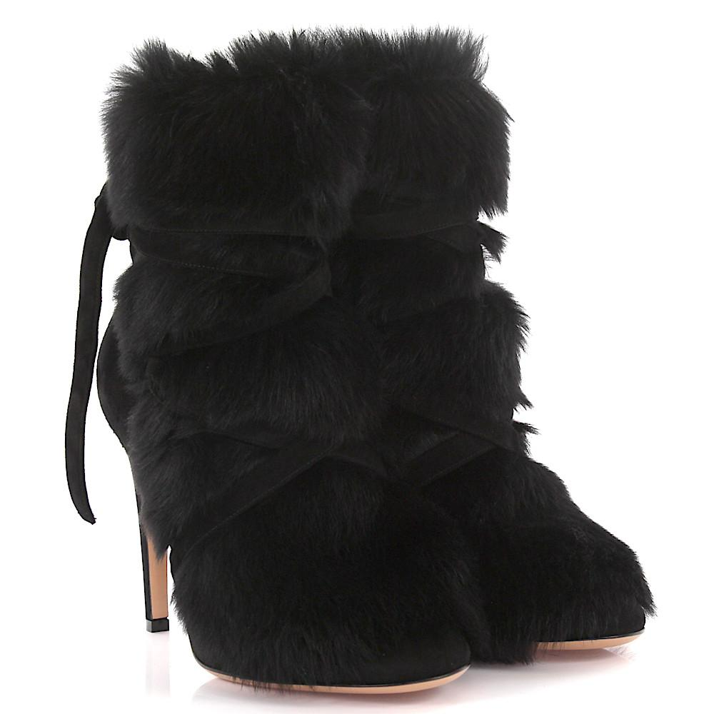 Gianvito Rossi Heeled Ankle Boots Suede Black