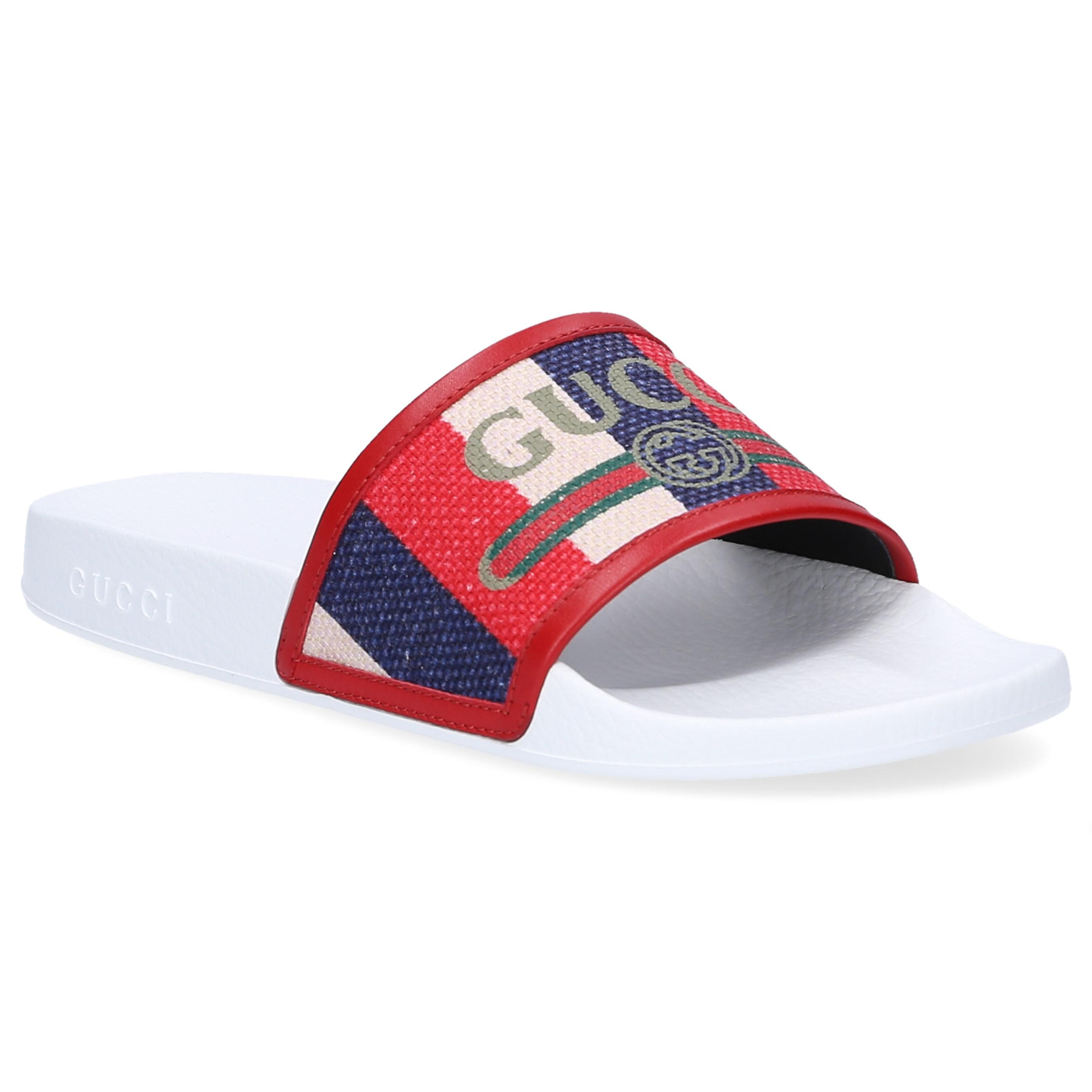 gucci slides red white and blue cheap