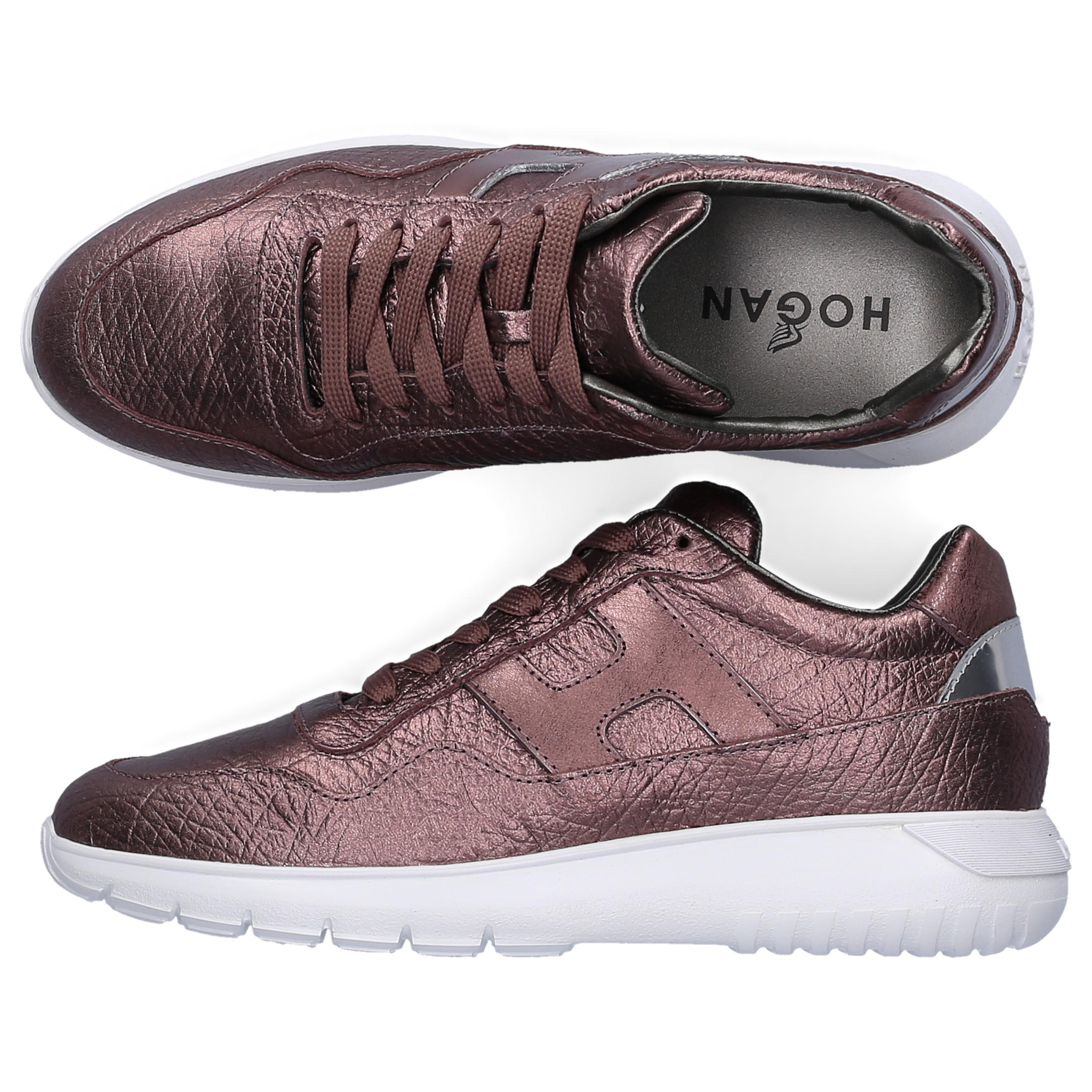Hogan Leather Low-top Sneakers H371 Logo Bordeaux in Red - Lyst