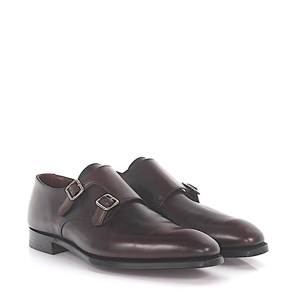 Double Monk SEYMOUR 2 leather black Crockett & Jones idNk5