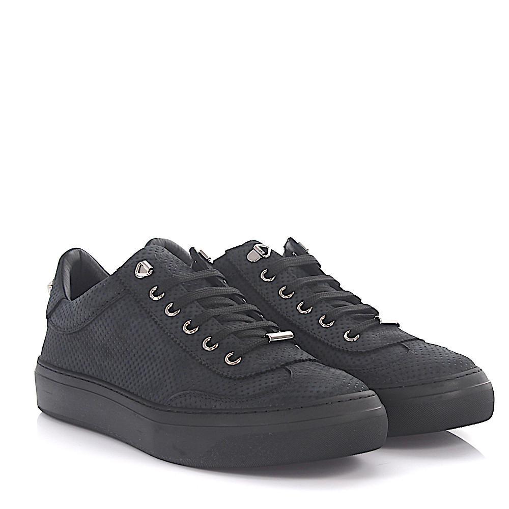 Jimmy chooSneaker low Ace nubuck leather metallic point embossed m3ohIBJK