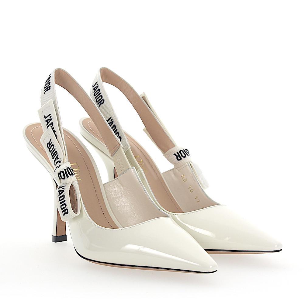 f7368da537a Lyst - Dior Sling Pumps J a Patent Leather White in White